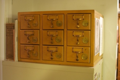 Small Library Card Catalog