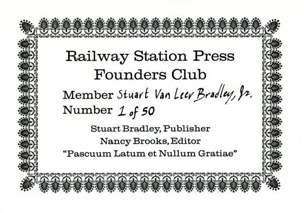Membership Card No 1