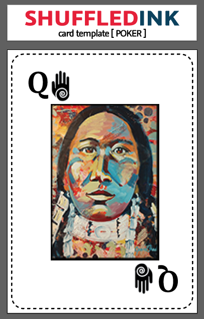 Spades Queen Card